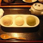 6978241 - きなな三種盛り(プレーン・ピンクグレープフルーツ・抹茶)