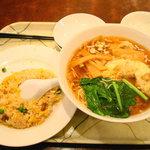6978793 - ワンタン麺と半チャーハンセット