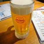 てぃーだむーん - ORIONドラフト生ビール