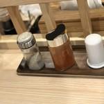 拉麺 大公 - 【2017.6.21】卓上調味料。