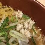 拉麺 大公 - 【2017.6.21】焼き味噌の鶏ミンチ。