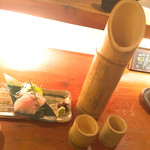 ROBATA 二代目 心 - 竹酒&ソイのお刺身
