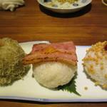 銀座2丁目ミタスカフェ - おにぎり3種