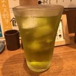 まん天餃子 - 緑茶ハイ