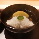 御料理 辻 - 天草の鱧、加茂茄子のお椀