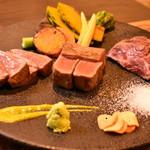 carnegico - 赤身肉3種の盛り合わせ
