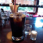 宮越屋珈琲 - つめたいコーヒー(¥715)。高級なだけに、後味の香りの立ち方が…やはり一味違う