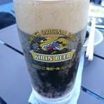 西武池袋本店屋上ビアテラス - 黒ビールもあるざます!