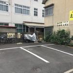 勝山協食 - 駐車場。