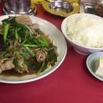 中華料理 吾作 - 肉ニラ炒め定食(700円)