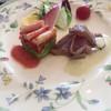展望レストランキャッスル - 料理写真:軽く炙ったマグロのカルパッチョ ズワイ蟹とアボカドのガトー仕立て