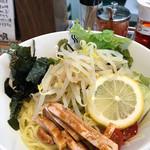麺家 神明 - サラダつけ麺②