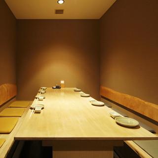 イス席個室は4タイプ。