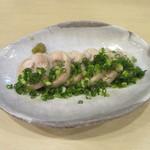 手打ち蕎麦 雷鳥 - 料理写真:「蒸し鶏」