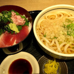 贔屓屋 - まぐろ2色丼セット ¥780