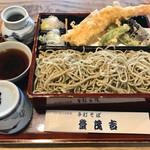 69804675 - 天せいろ@1850円                       特大車海老が丸一匹付いて来ます。割り箸と同じ位のサイズでしょ(^^)v→食べ応え十分!