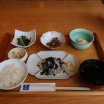 菜な - 太刀魚のあおさ焼き御膳