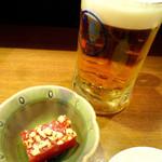東京イカセンター - ◆生ビール、お通し