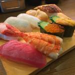 亀正くるくる寿司 - 亀正くるくる寿司(大分県別府市北中7組)上 1470円