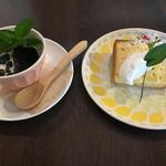 ナチュラルキッチン キュレル - ベトナム風珈琲ゼリーとシフォンケーキ