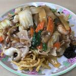 中華飯店響 - 料理写真:エビ入りあんかけ揚げ焼きそば