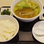東京カルビ - 薬膳スープ定食