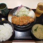 松乃家 - 得朝ロースカツ定食¥400-