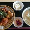 山小屋食堂 - 料理写真:から揚げ丼 豚汁セット