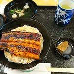 うなぎ料理 くりはら - うなぎ丼(並):1,550円+税