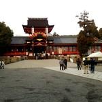 走井餅老舗 - 八幡宮本殿 2017年1月撮影