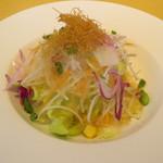 KENの厨房 - サラダです。酸味のきいたドレッシングで相変わらずのおいしさでした。