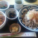 若紫 - 越前おろしそばとソースカツ丼セット980円(税込)