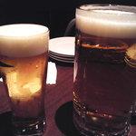 beer & wine厨房 tamaya - スーパードライ1リットル@1000円とエキストラゴールド@500円