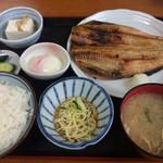 ドライブインサザエ - ホッケ定食