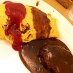 キッチンべる - オムライス+ハンバーグ