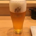 きく鮨 - エビスビール(570円)