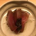 鮨 よし田 - カツオの玉ねぎ醤油