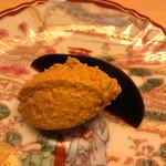 鮨 よし田 - スイカの漬け物と       あん肝