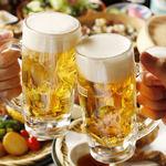 素揚げ酒場 パリパリ - まずはビールで乾杯♪