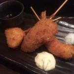 BACK9 - 串カツ(牡蠣、海老、玉葱)