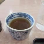 なか田 - 最後は蕎麦湯をいただいてお腹を癒します。  蕎麦湯はサラサラ感のある蕎麦湯でしたよ。