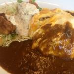 カレー&オムライスの店 洋食亭 - オムカレーとチキン南蛮のセット
