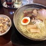 麺らいけん - 朝らぁ定食C煮ちゃーしゅー味玉子トッピング 1100円