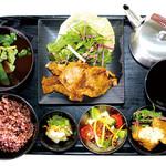 茶美豚の生姜焼き