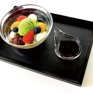京都藤井茶園の抹茶を使用したデザートをご用意しています!