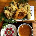 仙人小屋 - 天然キノコの天ぷら