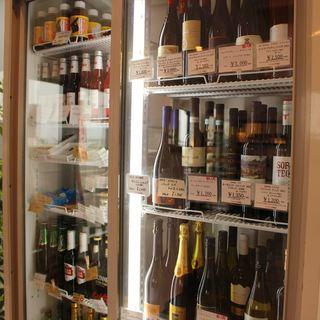 ワインの品揃えも豊富!