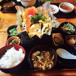 仙人小屋 - キノコホイル焼き定食