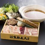 魚弥長久  - しゃぶしゃぶと夏野菜と鳥の治部煮コース2