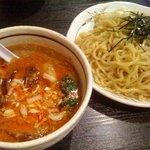 桃天花 - 坦々つけ麺(並盛)+チャーシューの切りおとし